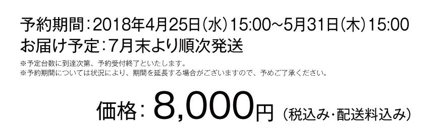 価格8000円