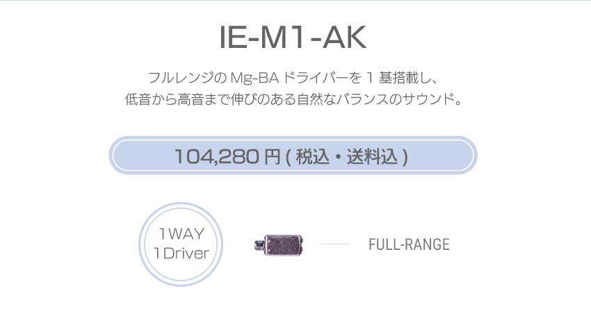 シリーズM IE-M1-AK 104,280円税込・送料込