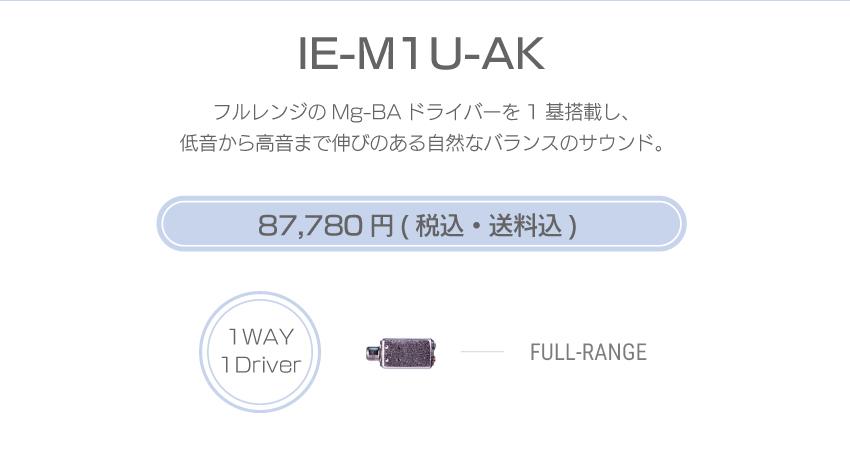シリーズM IE-M1U-AK 104,280円税込・送料込
