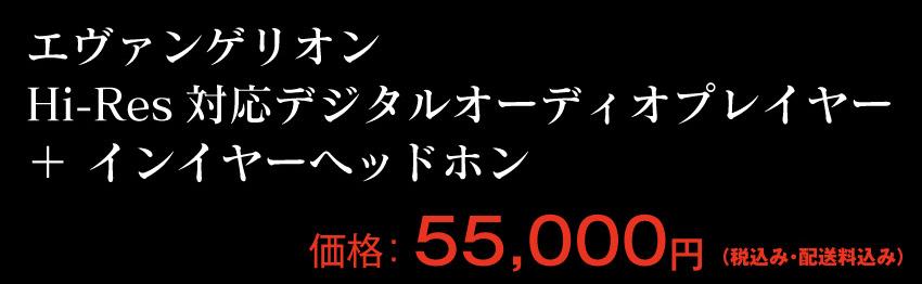 エヴァンゲリオン Hi-Res対応デジタルオーディオプレイヤー プラス インイヤーヘッドホン 価格 55000円