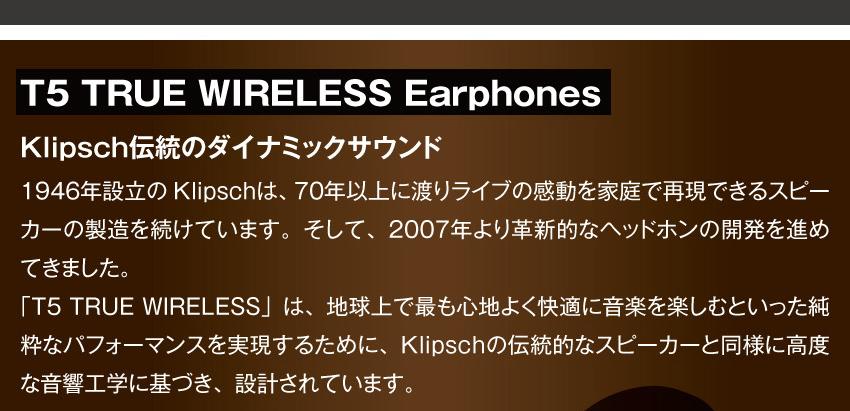 T5 TRUE WIRELESS Earphones 詳細