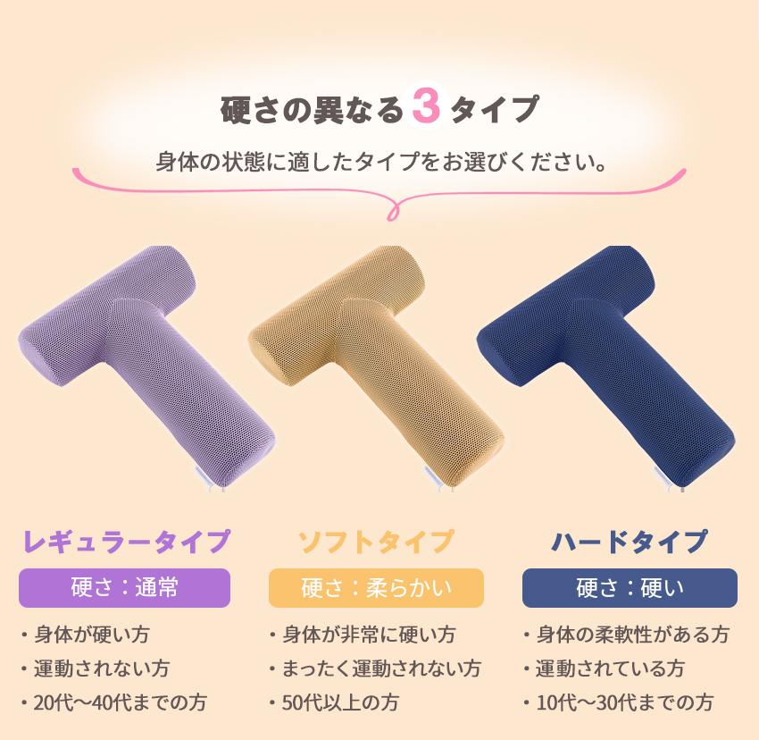 硬さの異なる3タイプ