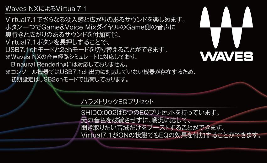 waves nx によるVirtual7.1 パラメトリックEQプリセット