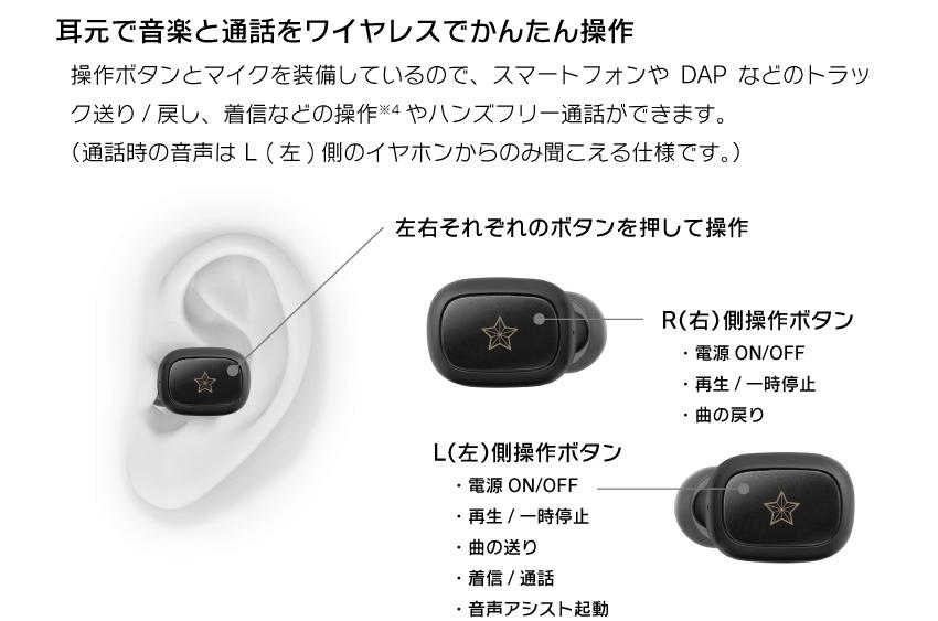 耳元で音楽と通話をワイヤレスで簡単操作