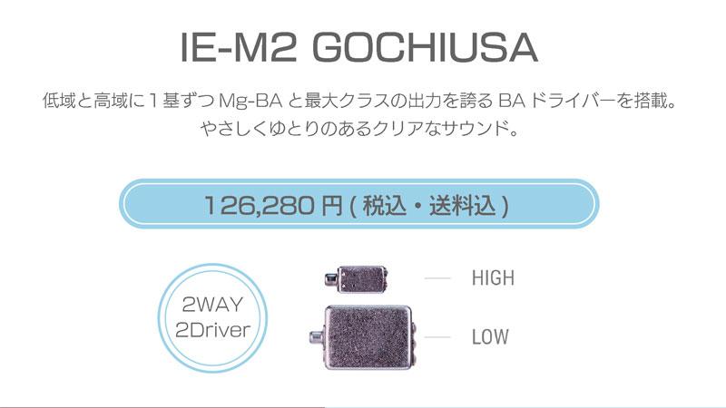 シリーズM IE-M2 GOCHIUSA 126,280円税込・送料込