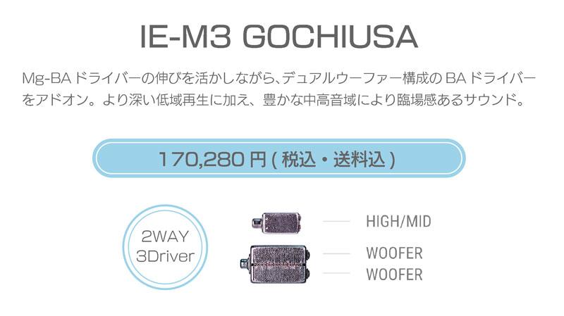 シリーズM IE-M3 GOCHIUSA 170,280円税込・送料込