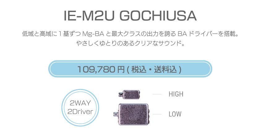 シリーズM IE-M2U USA 126,280円税込・送料込